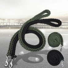 Large Dog Traction Rope Black/green Big Leash High-quality Nylon Woven Pet Product For Dogs