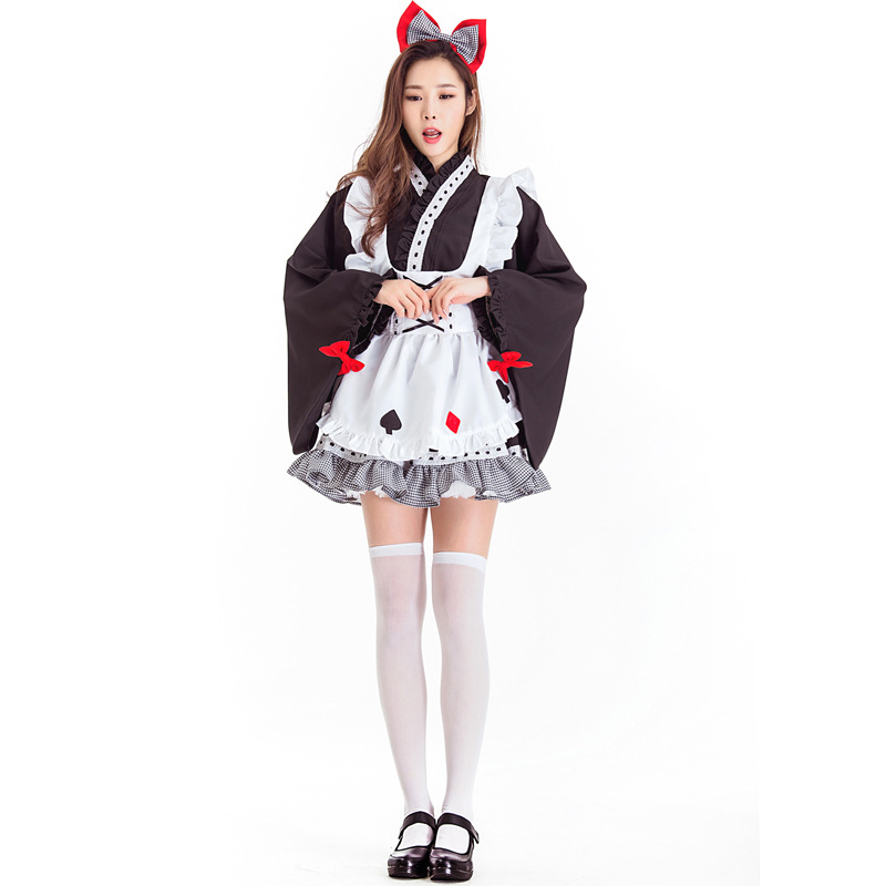 Alice In Wonderland Costume Women Adult Maid Cosplay Halloween Carnival Purim Costume For Adult Women