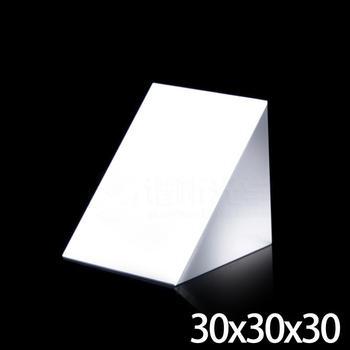 30x30x30mm Optical Glass Triangular Lsosceles K9 Prism With Reflecting Film Medicine