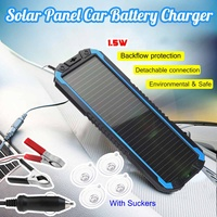 Portable Solar Panel Power Battery Charger Backup 1.5W 18V for Car Boat Lightweight Environmental Shock proof 34.5x12.3cm