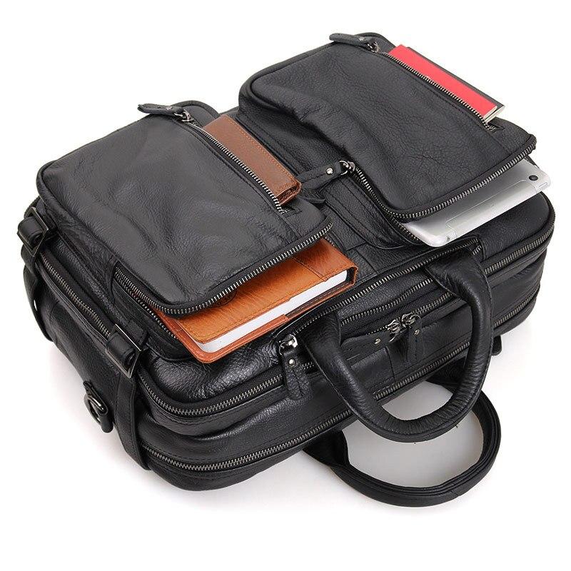 가죽 정품 가죽 노트북 가방 핸드백 728 40 쇠가죽 채찍으로 치다 남자 crossbody 가방 다목적 남자 여행 갈색 가죽 서류 가방-에서서류 가방부터 수화물 & 가방 의  그룹 1