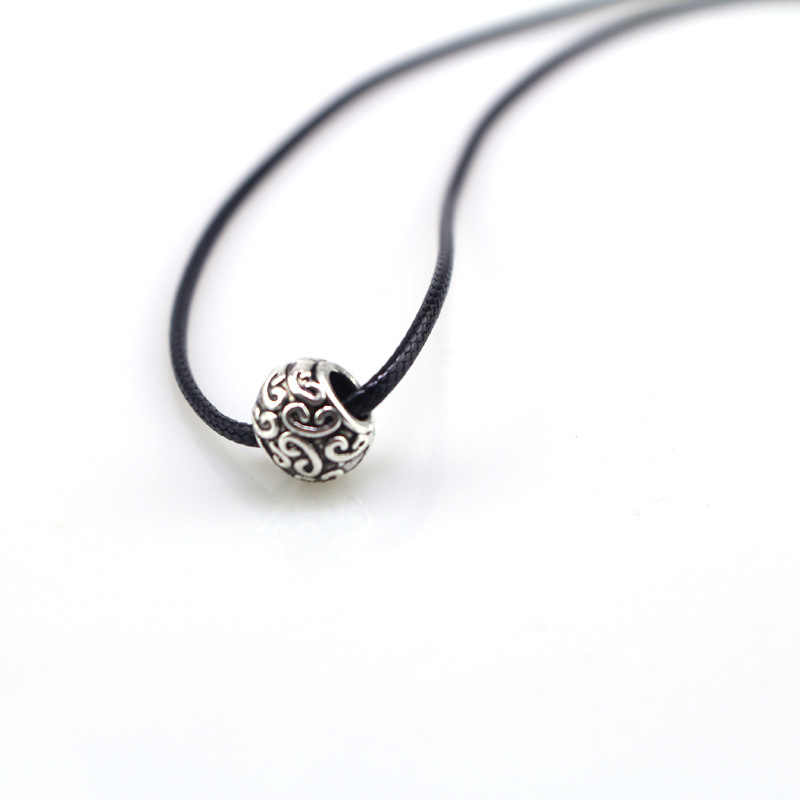 1 Pcs Delicate Wheel beads Pendant Necklace Charm Silver good luck Wheel beads Jewelry Necklace For Women Girls alloy