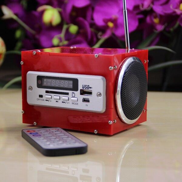 CLAITE DIY Mini AUX Radio MP3 Multi-función de bluetooth inalámbrico de pequeña potencia altavoz amplificador Kit DC 5 V 2 a * 3 W