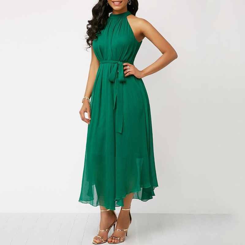 Шифоновое летнее платье без рукавов большого размера женские Сексуальные вечерние вне плечо элегантный кружевные зеленые романтические миди платья женские