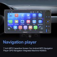 7 Inch MP5 Capacitive Screen Car Android MP5 Navigation Player GPS Navigation Integrated Machine HE6603 2019 NEW