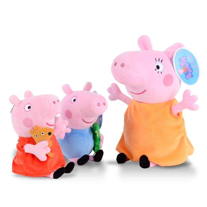 20/30//50/60cm Peppa pig George Family Plush Toy Stuffed Doll Party Decorations Peppa pig Ornament Keychain Kids Christmas Gifts 4