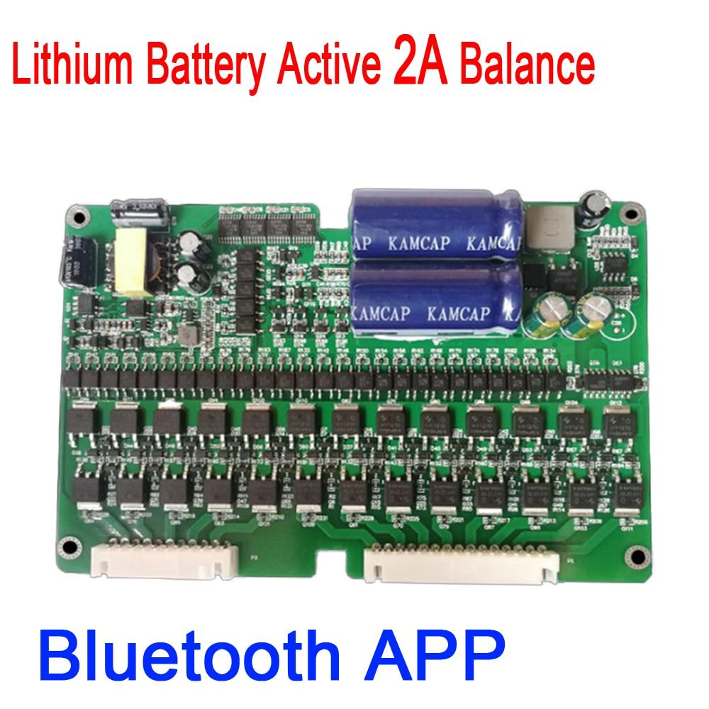 DYKB 2S ~ 24S 2A eBike Bluetooth Lithium Battery Active Balance BMS Li ion Lipo Lifepo4 Balancer Protection Board 4S 7S 10S 16S