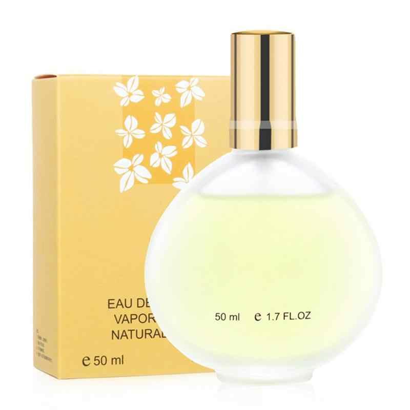 Belles bouteilles de parfum vides 50ml parfum de fleur pour dame longue durée bouteille de parfum naturel vaporisateur parfum bouteille cosmétique