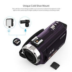 Image 4 - Andoer 4K Camcord 1080P 48MP WiFi Digital Video Kamera mit 0.39X Weitwinkel Makro Objektiv + Mikrofon + LED Video Licht + Kamera Tasche