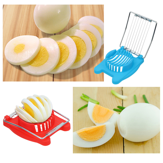 Ei Snijmachines Handleiding Voedsel Processors Ontbijt Koken Gereedschap Gadgets Chopper Staainless Staal Fruit Cutter Kitchen Tools