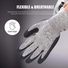 Nitrile Dipped Cut-proof Gloves Industry Grade 3/5 HPPE Cut Resistant Gloves Hppe Anti-Cut Glove Kitchen Men Safety Gloves S-Xl