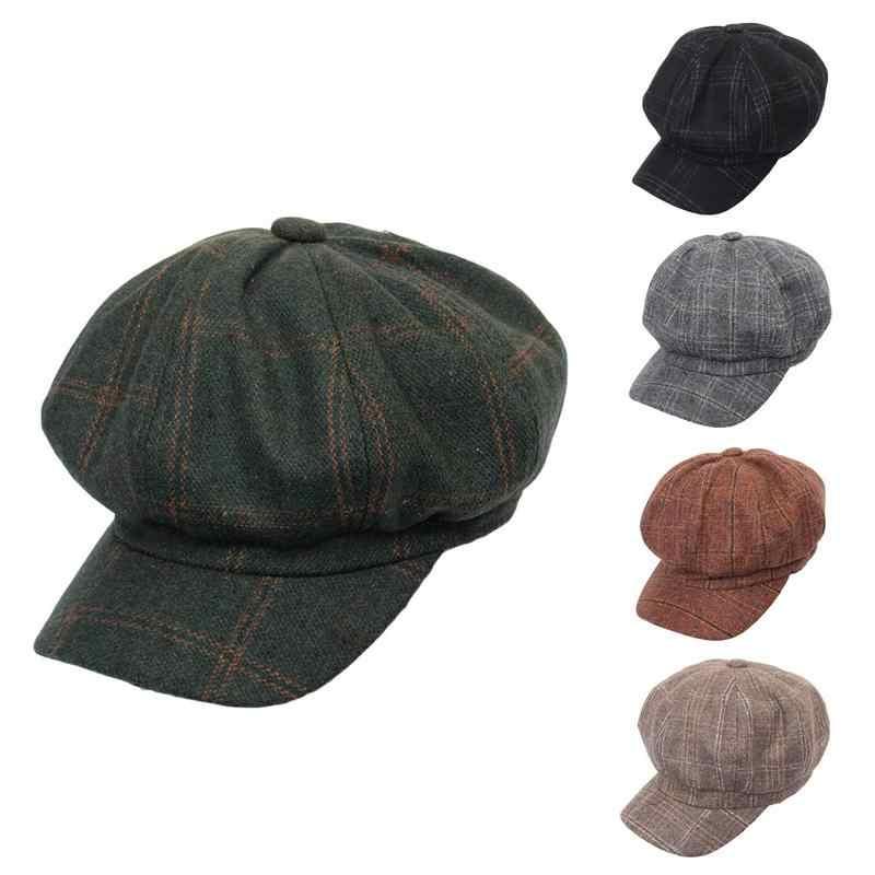 fef4827c5440aa MISS M 2018 Retro Women Beret Winter Hats For Women Octagonal Hat Men Beret Cap  Hat
