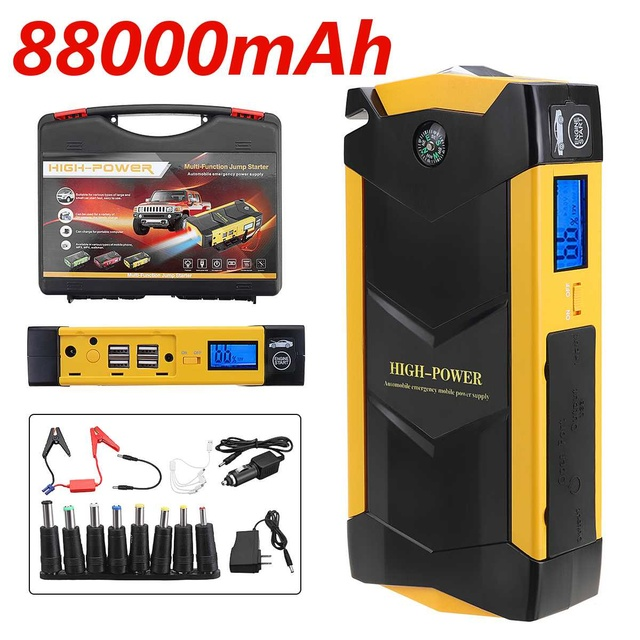 82800mAh 12V 4USB High Power Car Battery Charger Starting Car Jump Starter Booster Power Bank Kit For Car Auto Starting Device