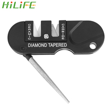 Keychain Sharpening-Tool Hunting-Knife Two-Stages-Sharpener Survival Portable Pocket