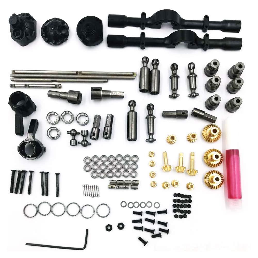 WPL 6X6 Middle Bridge Axle All Metal OP Part For 1/16 B16 B36 RC Car Parts DIY