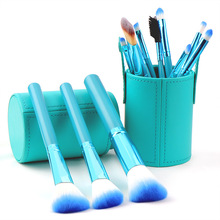 12pcs Makeup Brushes Set +1 cosmetic barrel bag Cosmetic Powder Foundation Eyeliner  Eye shadow Brush Kits Make Up Brush Tool 12pcs cosmetic makeup brush sets cosmetic