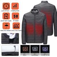 Men Women USB Fast Heating Jacket Electric Back Abdomen Heated Temperature controllable intelligent Coats Work Safety Clothing