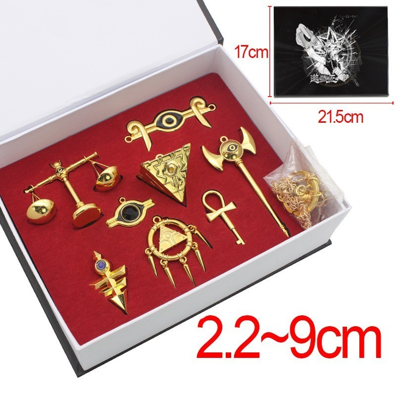 New Anime Yu-Gi-Oh! Yugi Muto Weapon Sword King of Games Weapons Pendants Cosplay Toy Set Metal Key Chain chifres malevola png