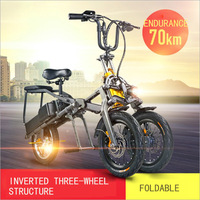 foldable electric scooter citycoco 36 v / 350 watt lithium battery design hydraulic disc brake bike triangle
