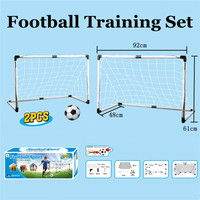 2Pcs/set Portable Collapsible Football Kit Kids Basketball Backboard Soccer Goal Set with Ball Pump Training Toy Board Games