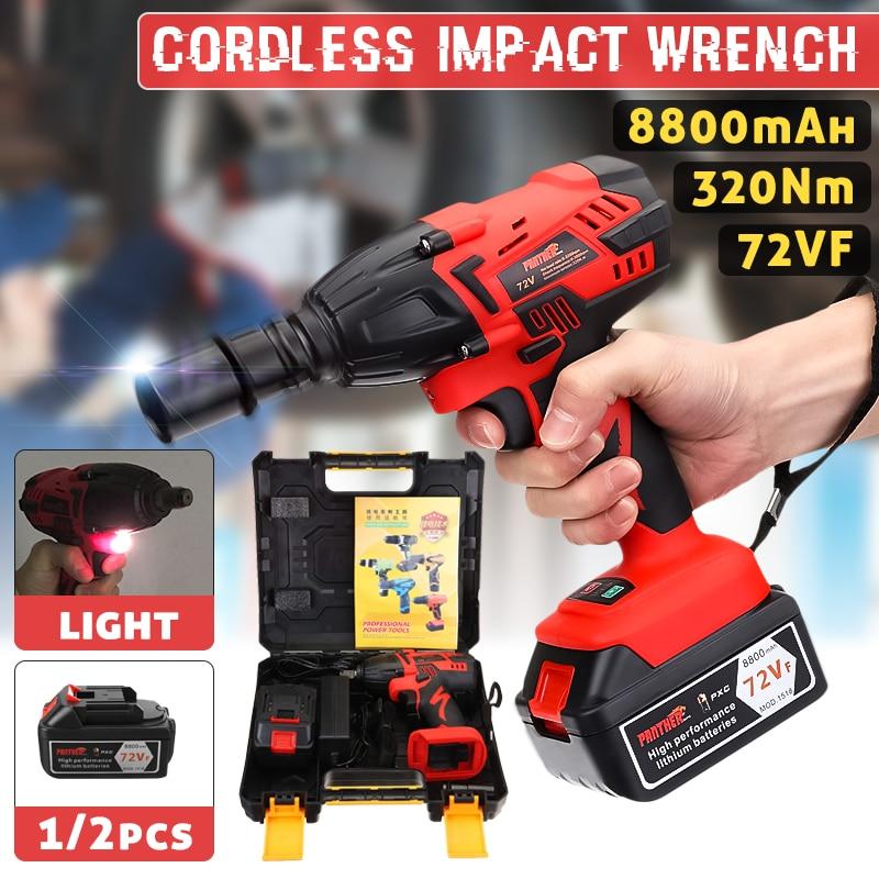 25 V 8800Ah Li-ion clé à chocs électrique pistolets 320Nm haute clé à chocs sans fil 1/2 Batteries 1 chargeur outil électrique