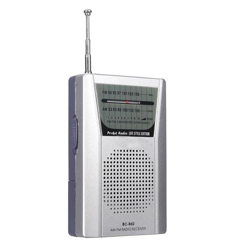Heißer Verkauf Mini Silber Tragbare Led Am/fm Teleskop Antenne Radio Lautsprecher Low Power Verbrauch Radio Empfänger äSthetisches Aussehen Radio Unterhaltungselektronik