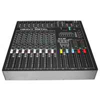 LEORY USB 8 Channels Audio Console Mixer DSP Digital Effects Mixing For DJ Audio Karaoke 48V phantom power Professional