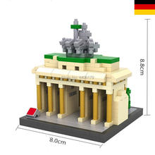 hot LegoINGlys creators city Street view Germany Brandenburg Gate mini Micro Diamond Building Blocks model bricks toys for gifts legoinglys city creators street view australia sydney opera house micro diamond building blocks model nano bricks toys for gifts