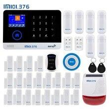 LM101.376 Wi-Fi GSM домашняя охранная сигнализация с 2,4 дюймов TFT сенсорная панель приложение управление RFID карта беспроводной умный дом защита от взлома