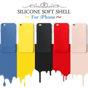 Image 2 - Lüks yumuşak silikon kılıf iPhone 7 için 8 artı 6 6s x xs max xr 11 Pro darbeye dayanıklı durumda TPU silikon arka kapak koruyucu kılıf