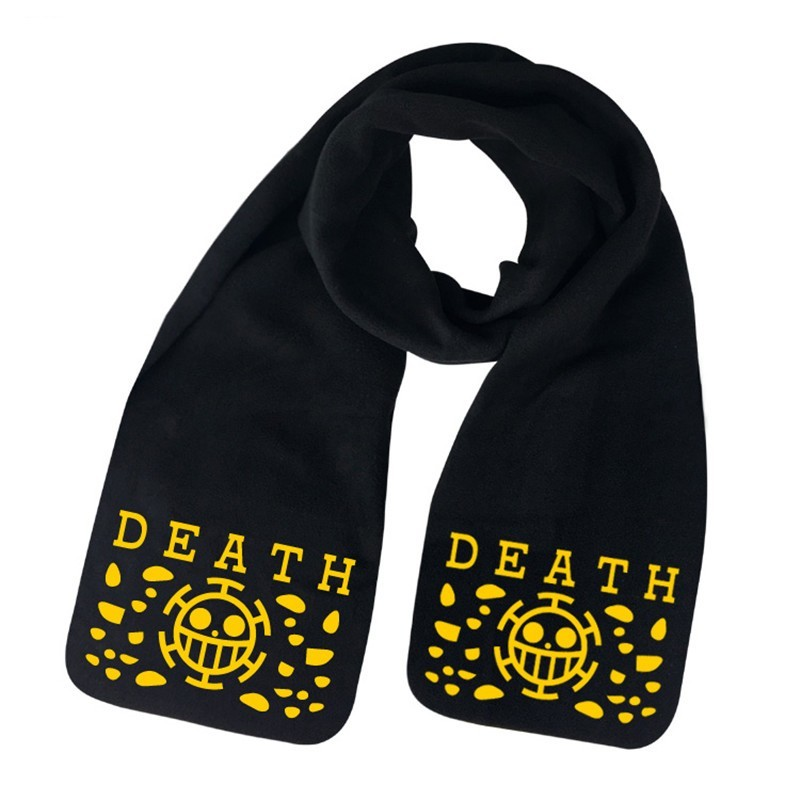 Reliable Anime One Piece Monkey D Luffy Scarf Trafalgar Law Man Women Unisex Cartoon Wrap Shawl Bufanda Cosplay Props Gift Costumes & Accessories Boys Costume Accessories