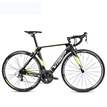 цены 700c Cycling Carbon Road Cycling Speed Variable 22 Speed System Bicycle Lightweight Carbon Fiber Frame Front Fork Bike