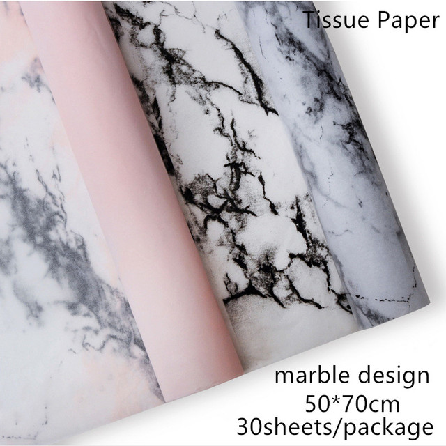 Marble Design 30sheets/package 50*70cm Tissue Paper Flower Clothing Shoes Gift Packing Craft Wrapping Paper