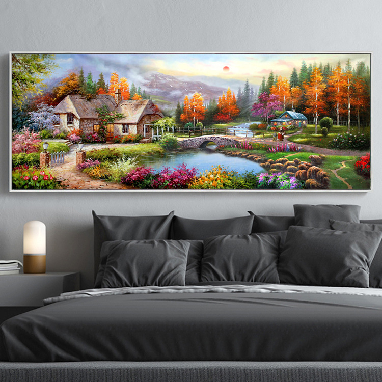 Diamond Painting Full of Crystals New Style Living Room Bedroom European Oil Painting Town Scenery Sticky Crystals Cross-Stitch Diamond Painting Full of Crystals New Style Living Room Bedroom European Oil Painting Town Scenery Sticky Crystals Cross-Stitch