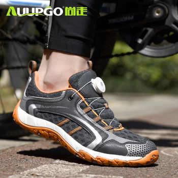 Auupgo Cycling Shoes Non-Lock Road Bike MTB Mountain Bike Sneakers Breathable Men Women Ultralight Non-Slip sports shoes - DISCOUNT ITEM  30% OFF Sports & Entertainment