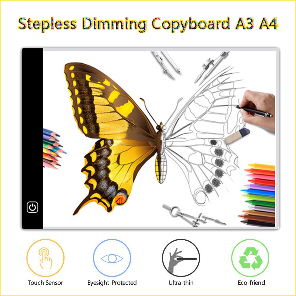 Sunny Kemila A4 Digital Drawing Graphic Tablet Led Light Box Tracing Copy Board Painting Writing Table Three-level Stepless Dimming Drafting Supplies Math Sets