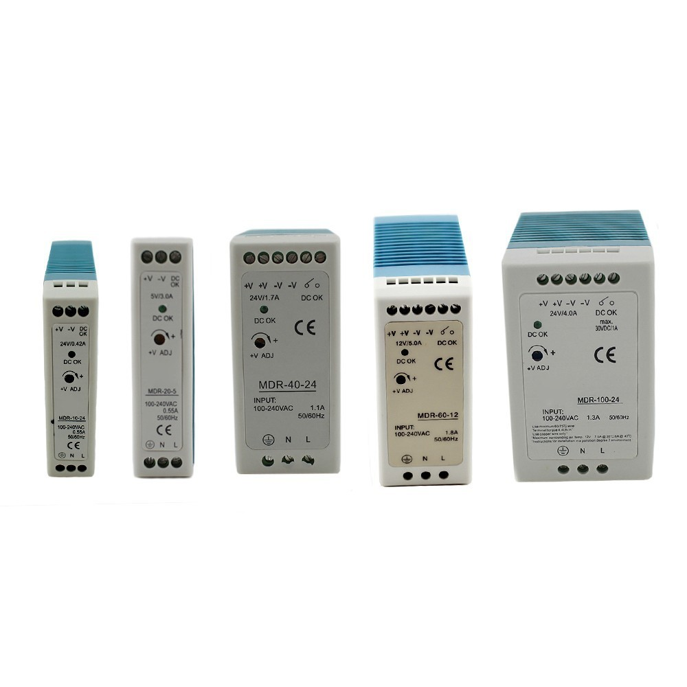 Single Output Industrial DIN Rail switching <font><b>Power</b></font> <font><b>Supply</b></font> 12/<font><b>24V</b></font> ac dc 10W 20W 40W 60W 100W with Ce Approv for led driver image