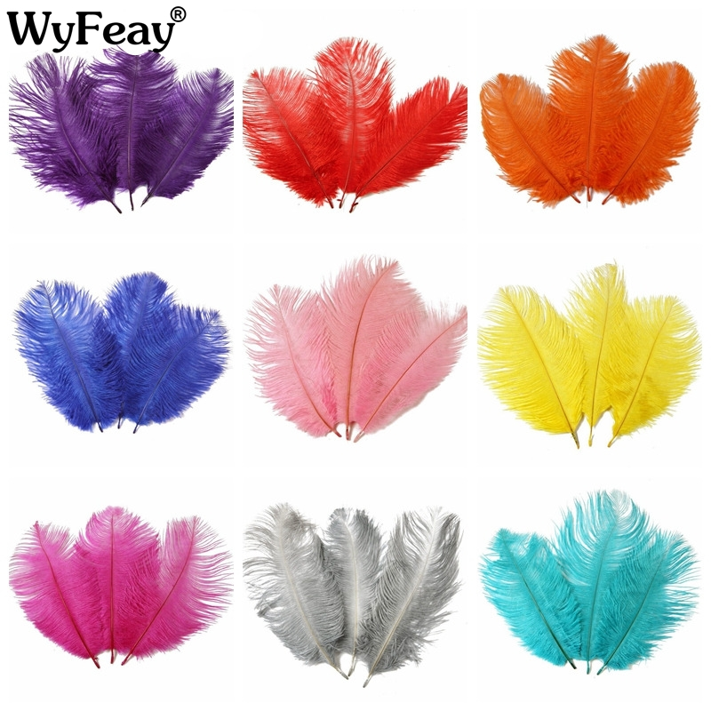 10/'/'-12/'/' LONG OSTRICH FEATHERS PACKS of 1 5 10 BEAUTIFUL COLOURS
