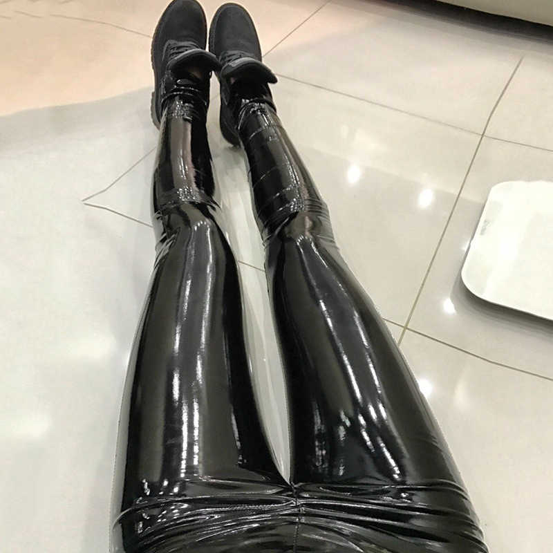 2290718c95ade Plus Sizes PU Leather Pants Women 2019 Elastic High Waist Black Sexy Female  Summer Trousers Jegging