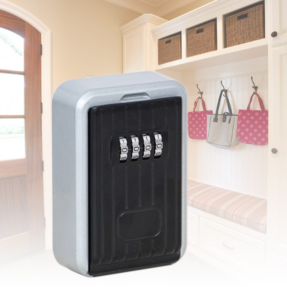 Wall-Mounted Safe Password Key Storage Box Stable And Durable 4-digit combination lock Z20 stable