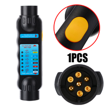 1pcs DC 12V 7 Pin Car Trailer Towing Light Plug & Socket Cable Wiring Circuit Tester Diagnostic Tools
