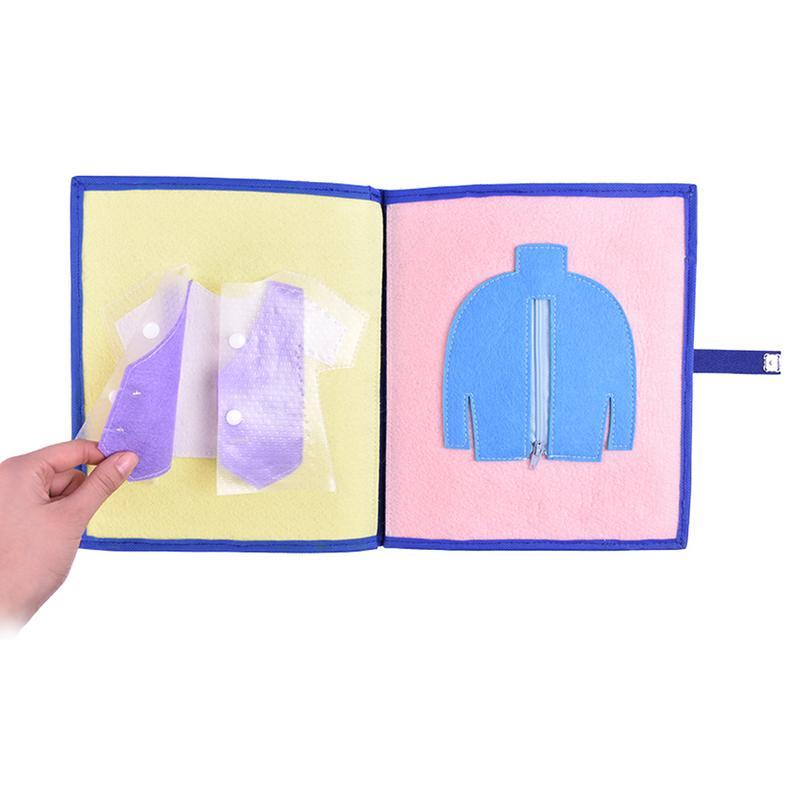 Livre en tissu non tissé matériel garçons filles enfant jouet éducatif lavable multi-fonctionnel livre en tissu bébé premier livre - 5