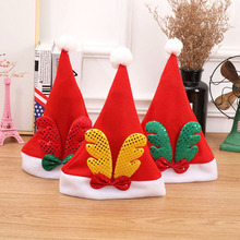 10 Pcs Red Antler Christmas Hats Xmas Merry Chiristmas Party Supplies Decorations for Home Children Kids 2018