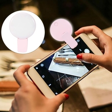 цена на LED Night Light Phone Selfie Fill Light Mini Portable Wide Angle Universal Clip Night Light with Mirror