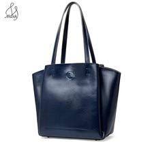 Vintage Women Cowhide Leather Handbags Big Ladies Bag Female Bags Large Casual Tote Fashion Shoulder Messenger Bag High Quality