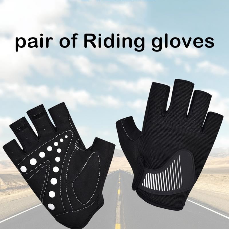 1 Pair New Breathable Half Finger Bicycle Gloves Stylish And Beautiful Road Cycling Sports Wear Resistant Comfortable Gloves