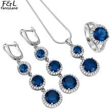 Женская мода горный хрусталь сережек с кольцами-подвесками Ожерелье лист Повседневный вечерние, свадьба четыре-набор ювелирных украшений