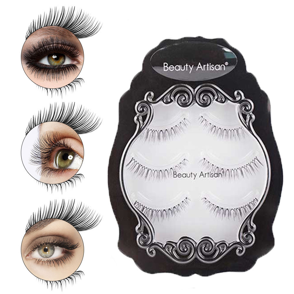 5 Pairs Thick Magnetic False Fake Eyelashes 3d Mink Eyelashes Long Lasting Eye Lashes Makeup Extension Valse Wimpers #y4 Outstanding Features Beauty Essentials False Eyelashes