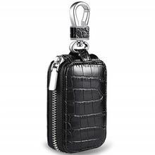 Leather Car Key Wallets Car Key Case Waist Hanging Key Holder Organizer Wallet Easy To Carry Car Key Case convenient durable leather key case holder for car black