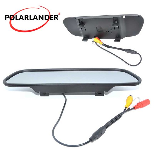800x480 car Monitor LCD Car Rearview Mirror Monitor for DVD Camera VCR 5.0 inch  DC 12V